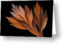 Wispy Tones Of Autumn Greeting Card