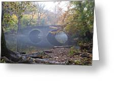 Wissahickon Creek And Bells Mill Road Bridge Greeting Card