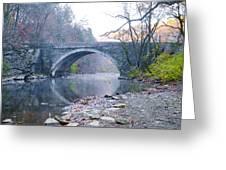 Wissahickon Creek And Valley Green Bridge Greeting Card