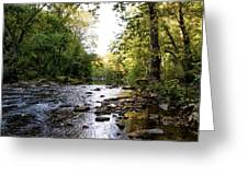 Wissahickon Creek Near Bells Mill Greeting Card