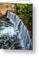 Wissahickon Dam At Ridge Avenue - Side View Greeting Card