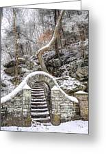 Wissahickon Steps In The Snow Greeting Card