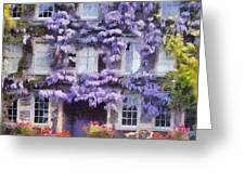 Wisteria Covered House Greeting Card