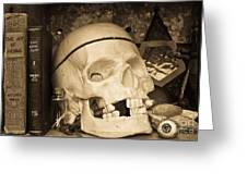 Witches Bookshelf Greeting Card