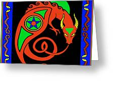 Witches Dragon Greeting Card