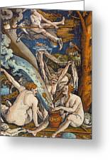 Witches Greeting Card by Hans Baldung Grien