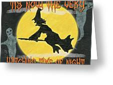 Witching Time Greeting Card