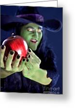 Witch's Apple Greeting Card