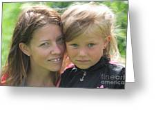 With Mother - Sweden. Greeting Card