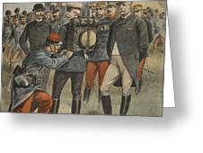 With The Army Manoeuvres The Duke Greeting Card