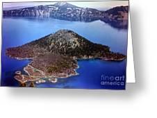 Wizard Island Greeting Card by Steven Valkenberg
