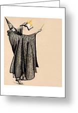 Wizard Of Orange Greeting Card