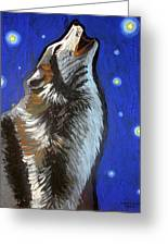 Wolf Howl Greeting Card
