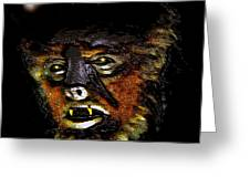 Wolf Man Original Work One Greeting Card