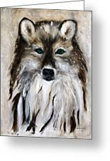 Wolf - Star Trakr Greeting Card