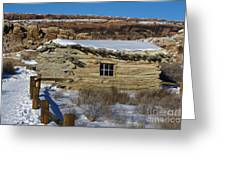 Wolfe Ranch Cabin Arches National Park Utah Greeting Card