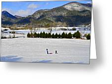 Wolffork Valley Winter Greeting Card by Susan Leggett