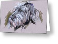 Wolfhound Portrait Greeting Card