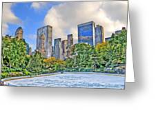 Wollman Rink In Central Park Greeting Card
