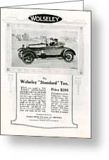 Wolseley 1923 1920s Usa Cc Cars Greeting Card
