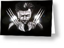 Wolverine Greeting Card by Kim Lagerhem