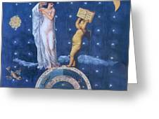 Woman And Cherub Greeting Card