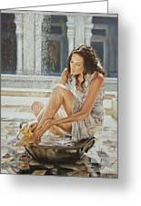 Woman Bathing 2013 Greeting Card