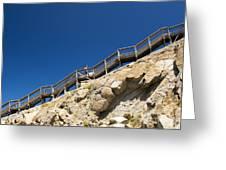 Woman Climbing Stairs Greeting Card