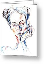 Woman Expression Greeting Card
