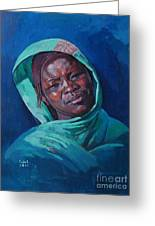 Woman From Darfur Greeting Card