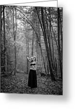 Woman In A Forrest Greeting Card
