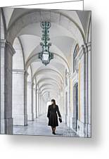 Woman In Archway  Greeting Card