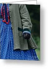 Woman In Civil War Period Clothing Greeting Card