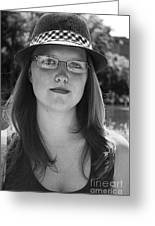 Woman In Hat Greeting Card