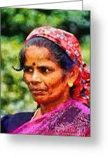 Woman In India Greeting Card