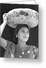 Woman In Tehuantepec, Mexico, 1929 Greeting Card