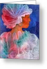 Woman In Turban Greeting Card