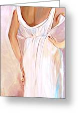 Woman In White Greeting Card