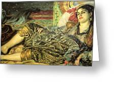 Woman Of Algiers Greeting Card