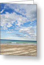 Woman On Manly Beach In Sydney Australia Greeting Card
