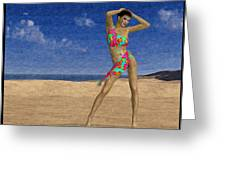 Woman On The Beach... Greeting Card