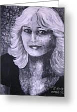 Woman Portreit Greeting Card