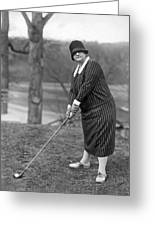 Woman Ready To Play Golf Greeting Card