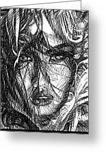 Woman Sketch Greeting Card