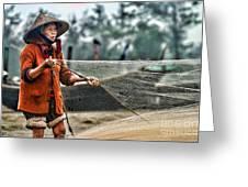 Woman Vietnam Color Greeting Card
