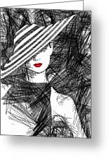 Woman With A Hat Greeting Card