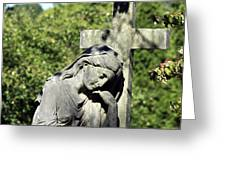 Woman With Cross Cave Hill Cemetery Louisville Kentucky Usa Greeting Card