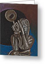 Woman With Trumpet Greeting Card