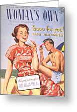 Womans Own 1949 1940s  Uk Holidays Greeting Card