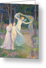 Women Amongst The Trees Greeting Card by Hippolyte Petitjean